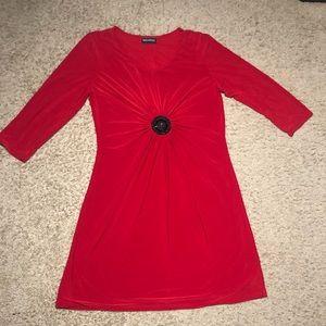 Beautiful Red Dress by Nina Leonard